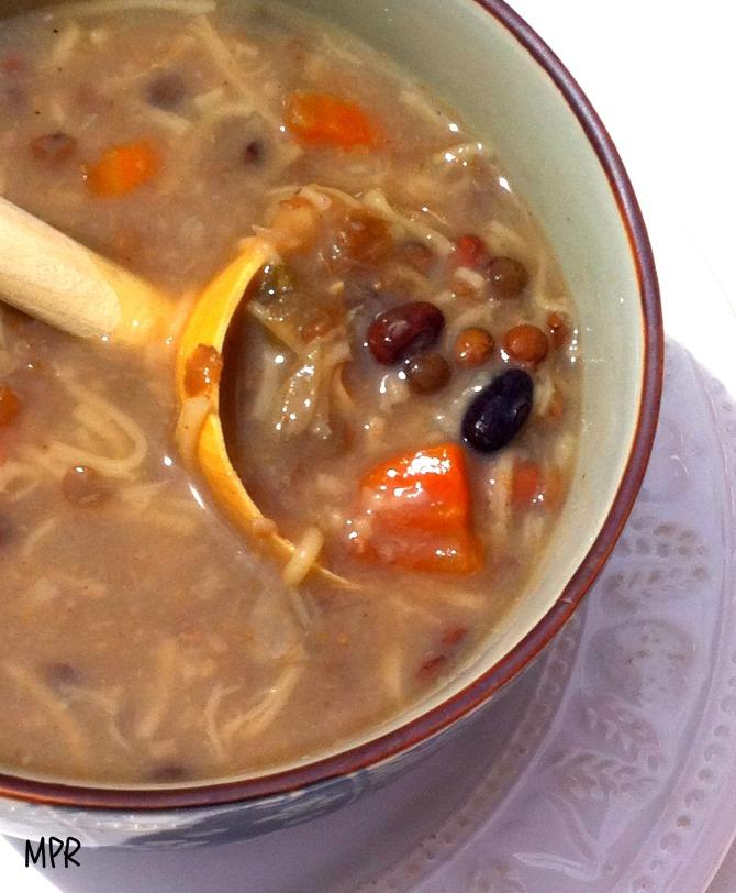 soupe légumes secs