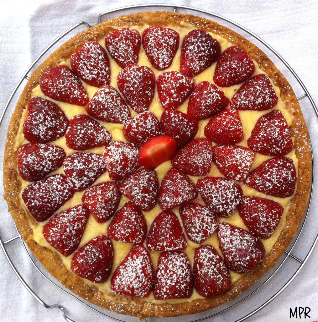 tarte fraise sur sablé breton 2